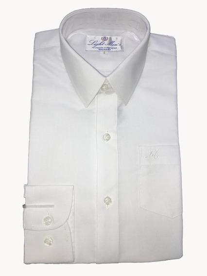 Camisa Blanca Manga Larga De Vestir Para Niño