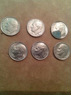 Set De Monedas Antiguas One Dime 1966