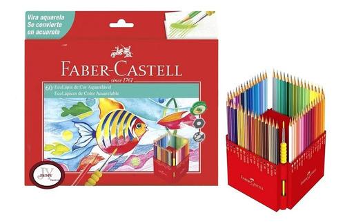 Imagen 1 de 2 de Lápices De Colores Acuarelables De Faber-castell Por 60