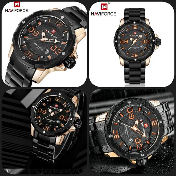Relógio Naviforce Original Calendário Prova Dágua C Garantia