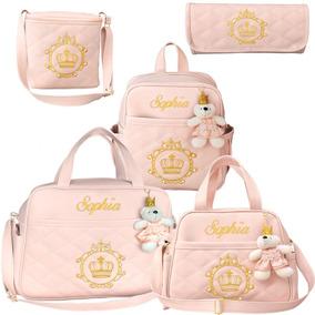 7347ee48d Kit De Bolsas Bebê Nome Personalizado Ateliê Rose - Bolsas e ...
