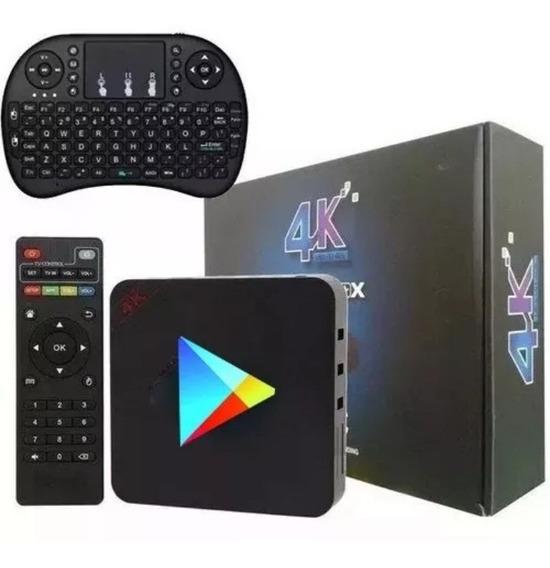Transforme Tv Em Smart 4k Hdmi 16gb 2g Ram Netflix + Teclado