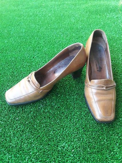Zapatos De Cuero Mujer Mocasines Estilo Italiano