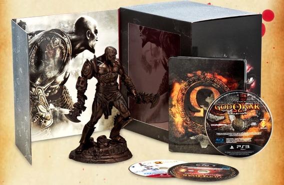 Box Especial God Of War - Omega Collection Estatua - Kratos