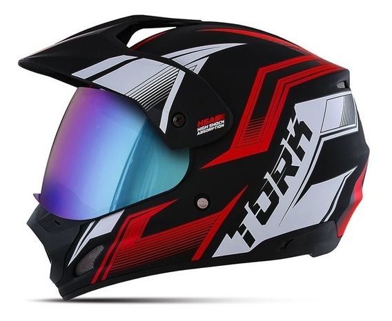 Capacete Motocross Pro Tork Th1 New Adventure Com Viseira