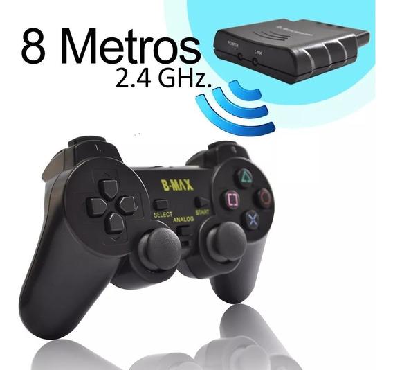 Joystick Ps2 Sem Fio 8m 2.4ghz Dual Shock