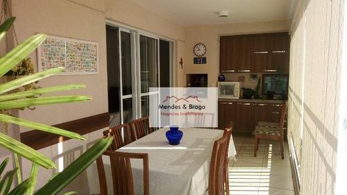 Imagem 1 de 21 de Apartamento Com 3 Dormitórios À Venda, 110 M² Por R$ 790.000,00 - Vila Augusta - Guarulhos/sp - Ap2297