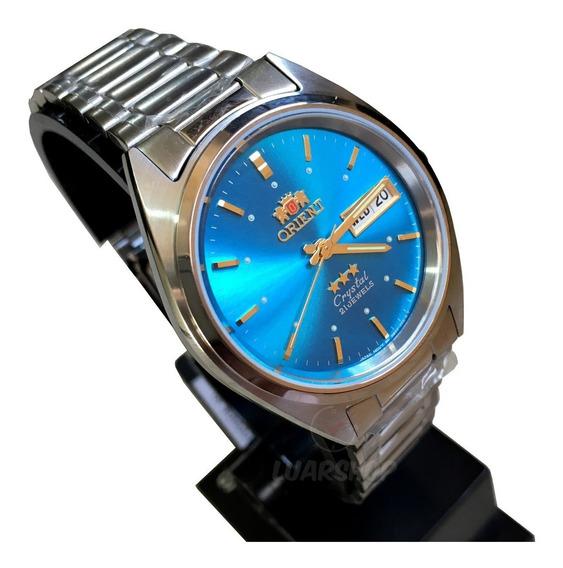 Relogio Orient Automatico Masculino Azul Original Caixa Nf