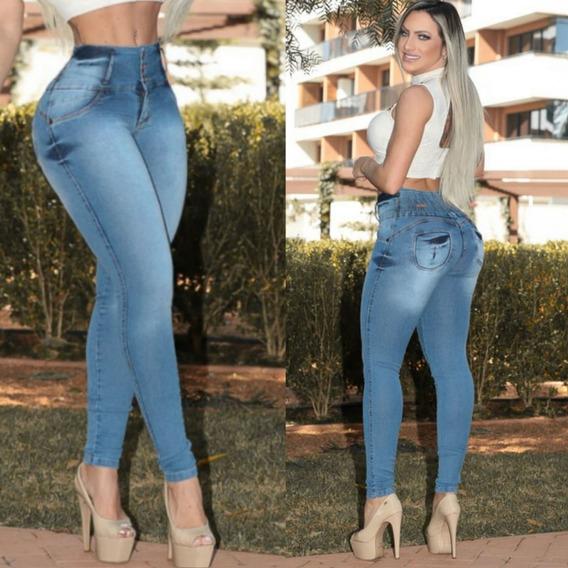 Calça Jeans Sillus Com Lycra E Elastico Na Cintura **