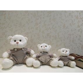 Trio De Ursos Colegiais G, M, P - Off / Bege