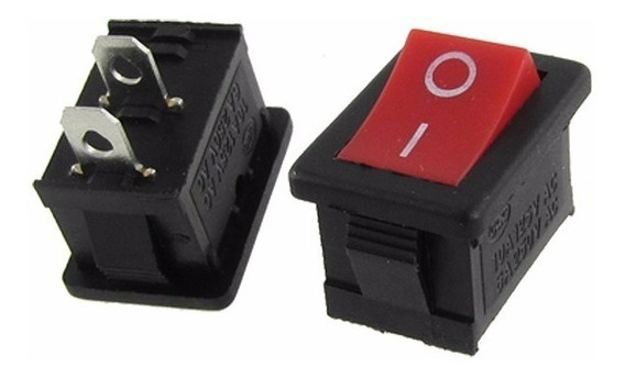 Interruptor On/off Rojo Rocker Switch Boton Balancin Apagador 3a