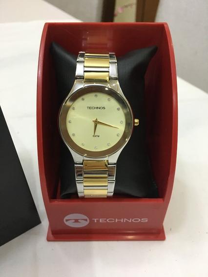Relógio De Pulso Technos 1l22eq Prata E Dourado Feminino