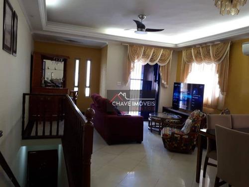Sobreposta Alta Com 3 Dormitórios À Venda, 120 M² Por R$ 650.000 - Ponta Da Praia - Santos/sp - So0114