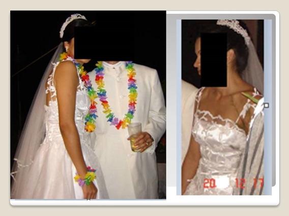 Vestido De Novia Talla S Usado 40gr Rebajado