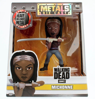 Walking Dead Figura Muñeco Metal Die Cast Michonne 97935