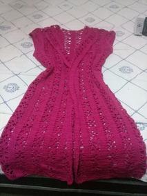 Sobretudo De Crochê Elegante