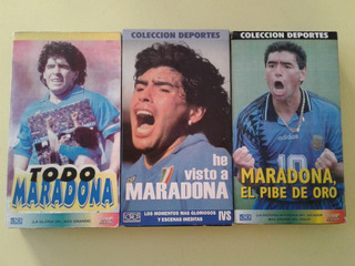 Lote De 3 Peliculas Video Vhs De Maradona