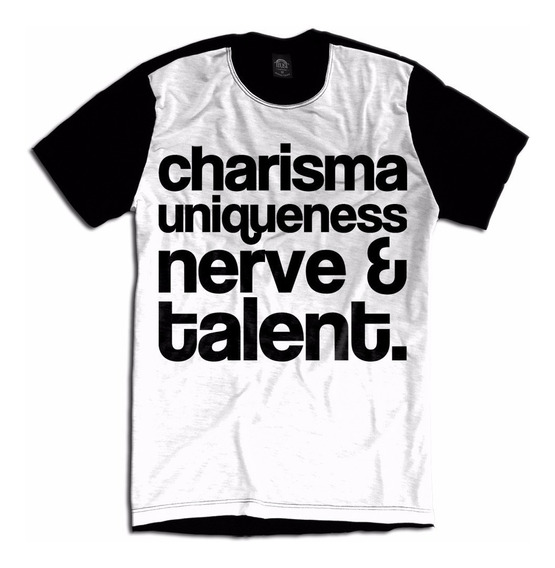 Camiseta Charisma Nerve Talent Star Race Drag Queen Lgbt