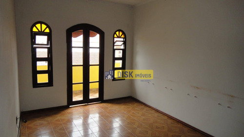 Sobrado Com 3 Dormitórios Para Alugar Por R$ 2.200,00/mês - Jardim Do Mar - São Bernardo Do Campo/sp - So0702