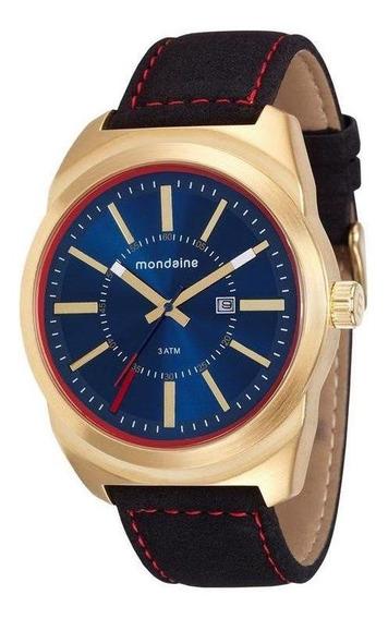 Relógio Masculino Analógico Mondaine 76594gpmvdh1 Dourado