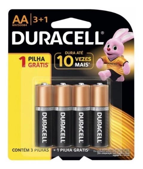 Pilha Duracell Alcalina Aa Pequena 3+1(brinde) Mn1500b4