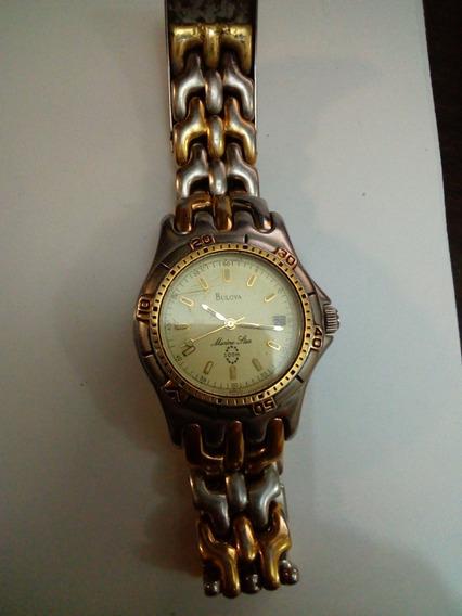 Reloj Bulova Mariner Star Para Caballero 100 M Cuarzo Alto R