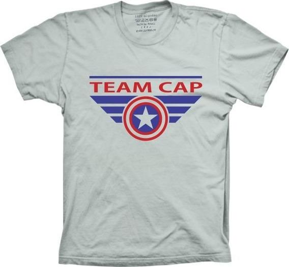 Camiseta Team Cap Masculina Feminina Infantil