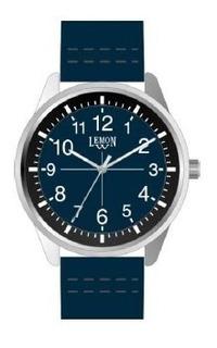 Reloj Lemon L1498 C/correa Azul 42mmø Moda