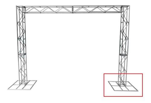 Imagem 1 de 3 de Treliças Box Truss Q20 Aço 1 Base 70x70cm - Lourenço