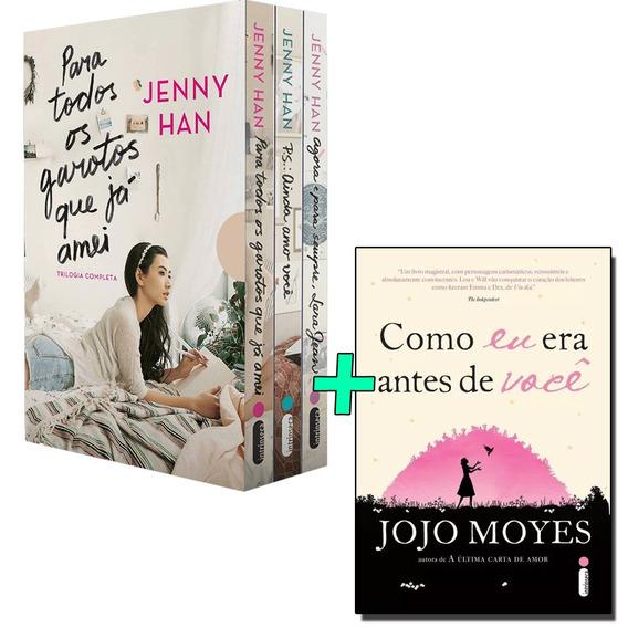 Livros Como Eu Era Antes Você + Box Para Todos Os Garotos