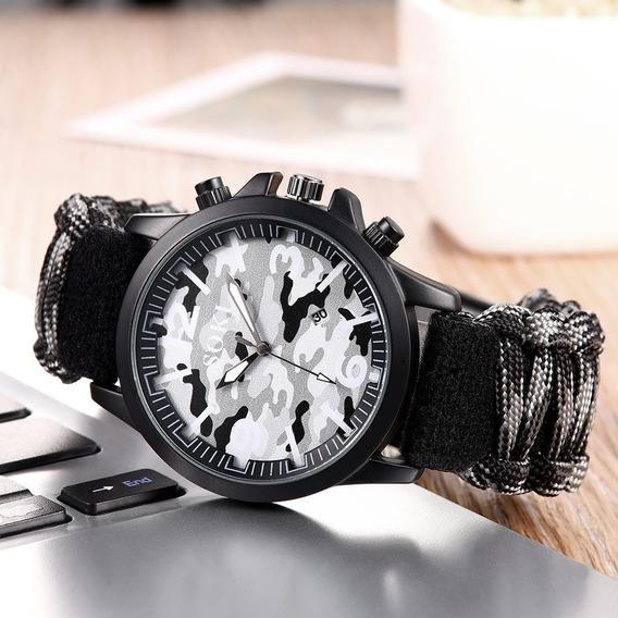Reloj Soki Cloth Estilo Militar Original Moda Hombre