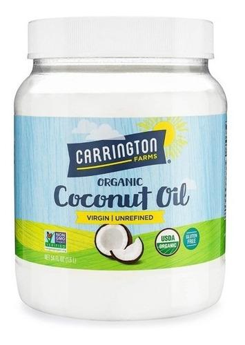 Aceite De Coco Carrington Americano 100% Orgánico 1.6 Litro