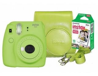 Cámara Fujifilm Instax Mini9 Kit +estuche+1rollo Colores Var