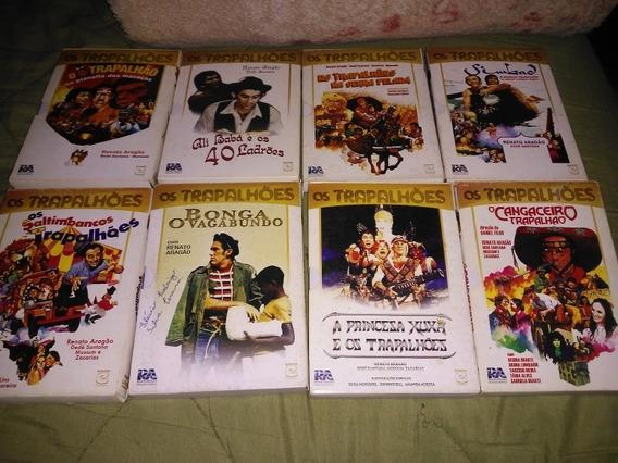 Lote 39 Dvds Os Trapalhões + Box Tripo Usado Original Raro
