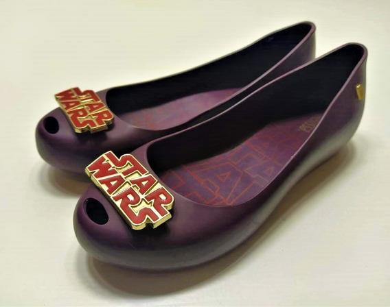 Zapatos Melissa Star Wars Chatitas Moradas Mujer Talle 6 Usa