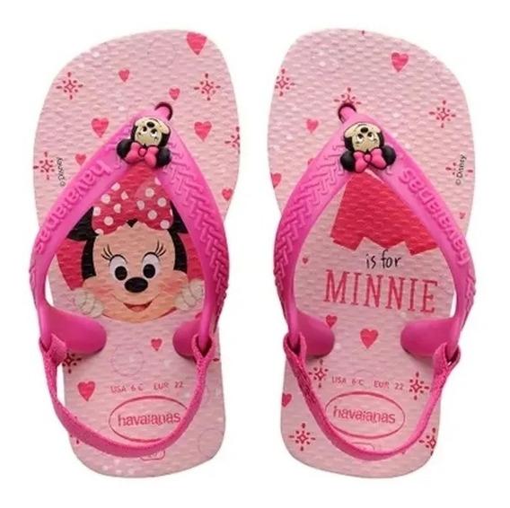 Havaianas Baby Classic - Minnie Rosa Disney Vários Tamanhos