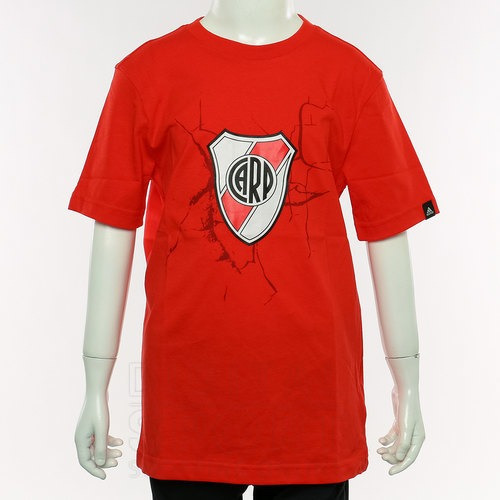Remera adidas River Plate Niños Roja Talle 14 Años - Ultima