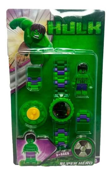 Relógio Digital Infantil Vingadores + Boneco Pequeno Hulk