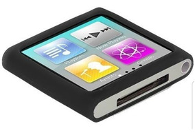 Case Preto Para iPod Nano 6 + Pelicula