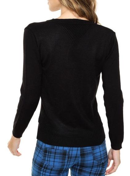 Sweater Hilo De Lycra Piramide Tipo Morley Cuello V Talle Unico Nano 1921