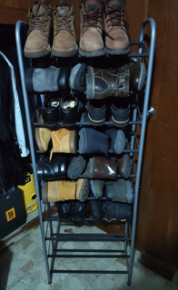 Rack Zapatera Organizador 10 Niveles Torre De Zapatos