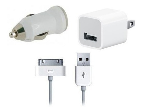 Kit Cargador 3 En 1 iPhone 4 4s 5 iPhone 3gs iPod Oferta S4