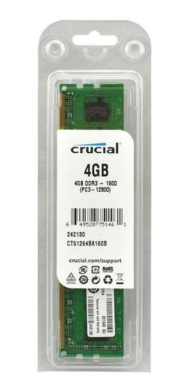 Memoria Ram Crucial 4gb Ddr3 Pc 1600 Mhz Int Extreme 6cuotas