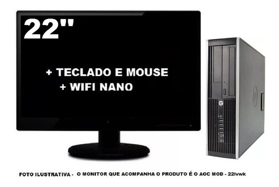 Computador Hp 8200 Core I5 8gb 240gb Ssd - Seminovo