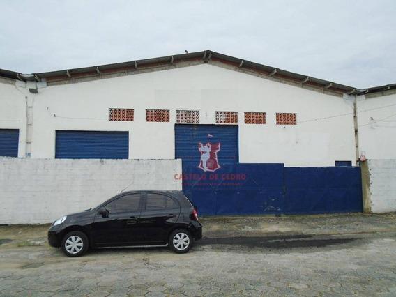 Galpão Para Alugar, 650 M² Por R$ 9.000/mês - Cidade Ocian - Praia Grande/sp - Ga0004