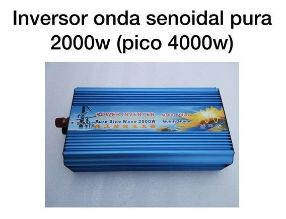Inversor 24v Para 220v 2000w Onda Senoidal Pura Pico 4000w
