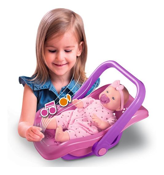 Boneca Com Bebê Conforto Musical Menina - Nova Toys