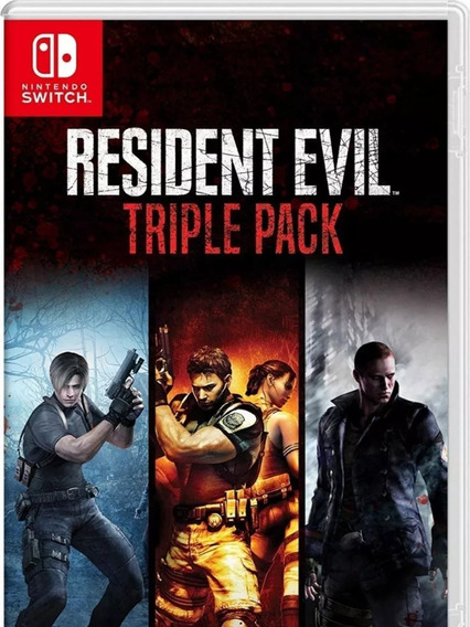 Resident Evil Triple Pack Switch Lacrada Pronta Entrega