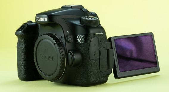 Camera Eos Canon 70d Corpo + Bateria Extra Lp-e6