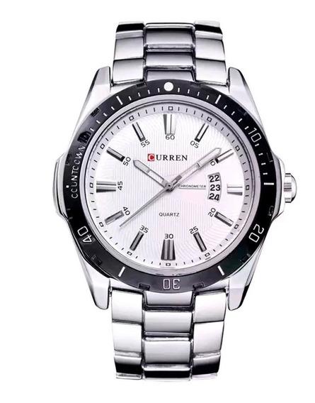 Relógio Masculino Luxo Super Resistente Aço Inox Calendário